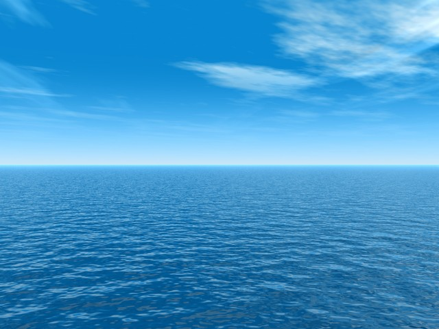 High resolution blue water and sky