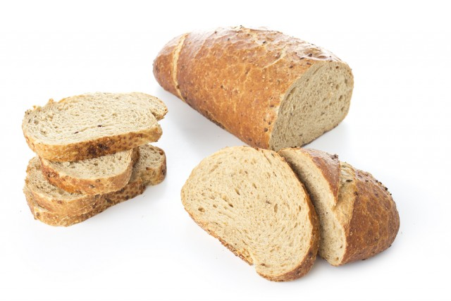 Bread on white isolated