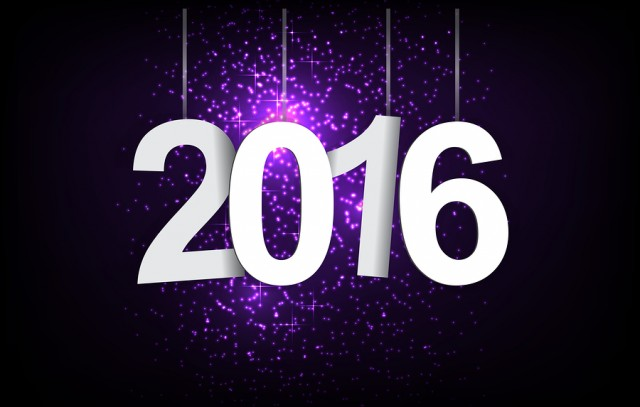 2015-2016 change represents the new year 2016. New year 2016 Text Design.